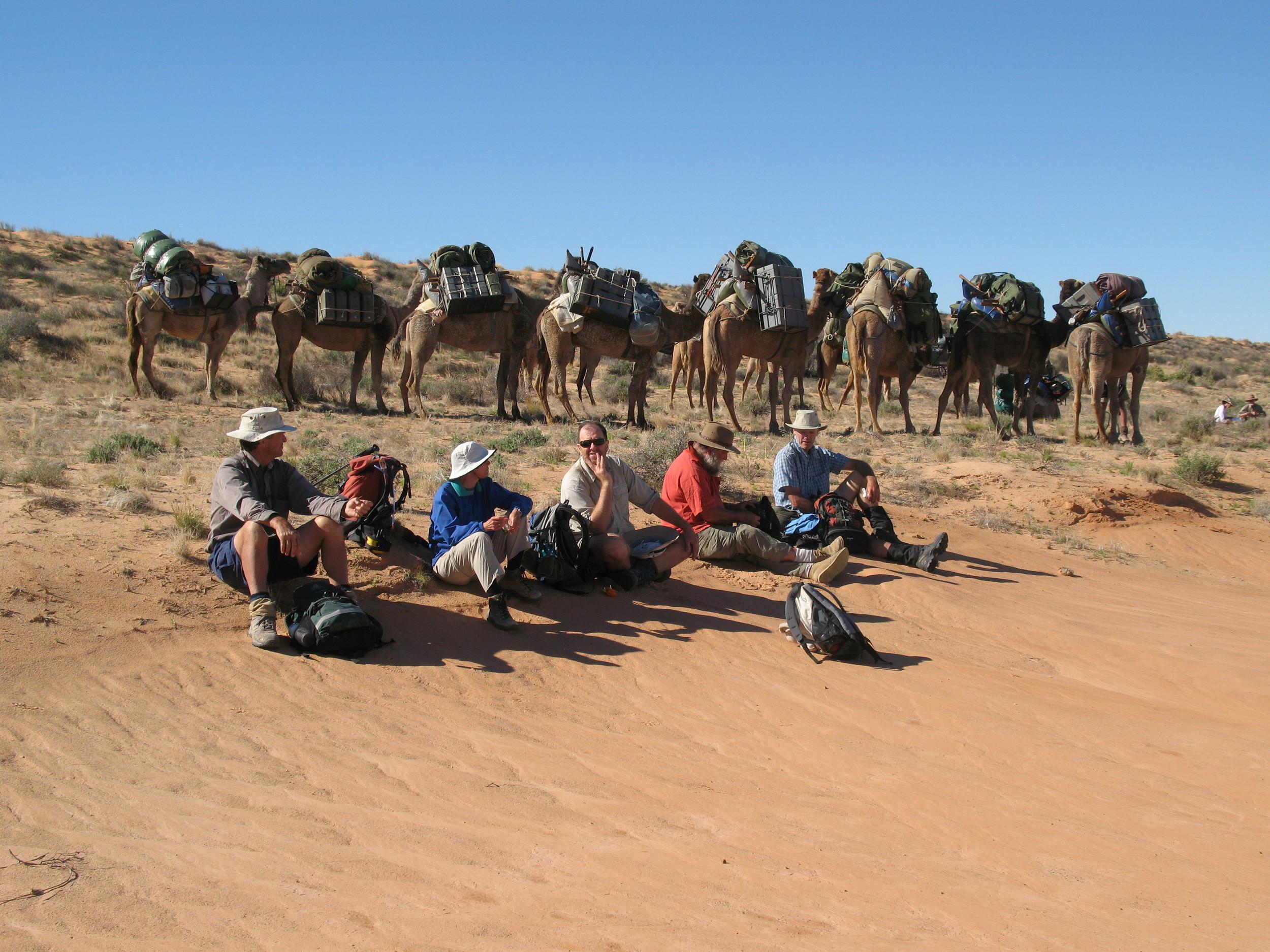 The ecology team taking a break.