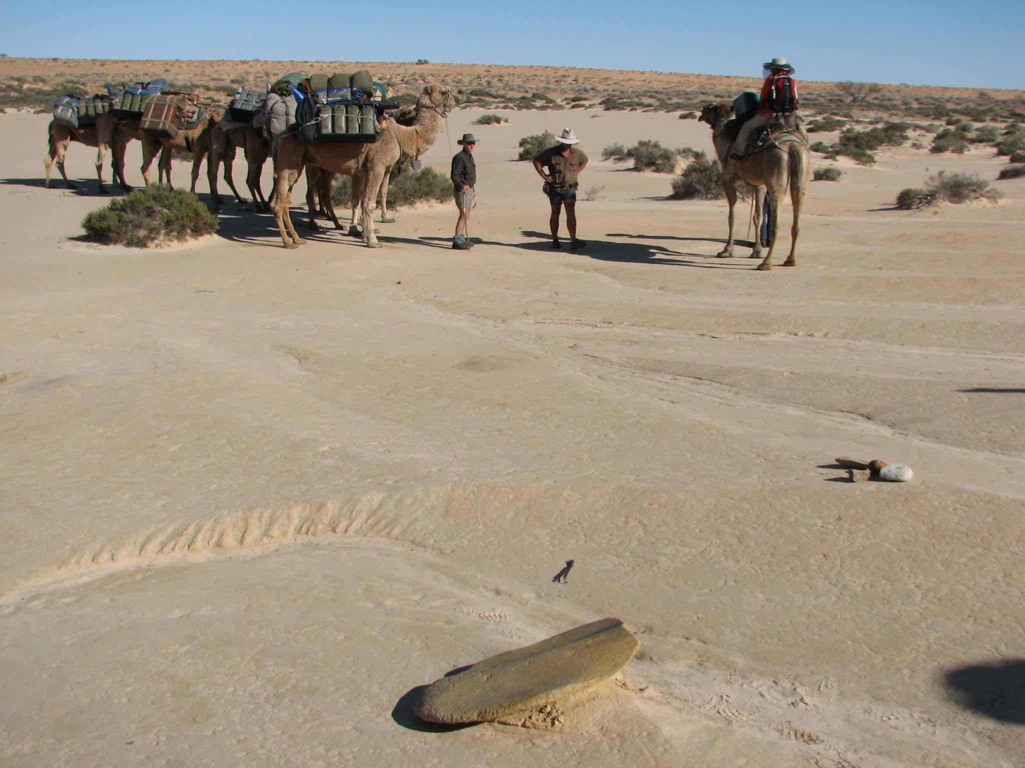 Documenting aboriginal artefacts.