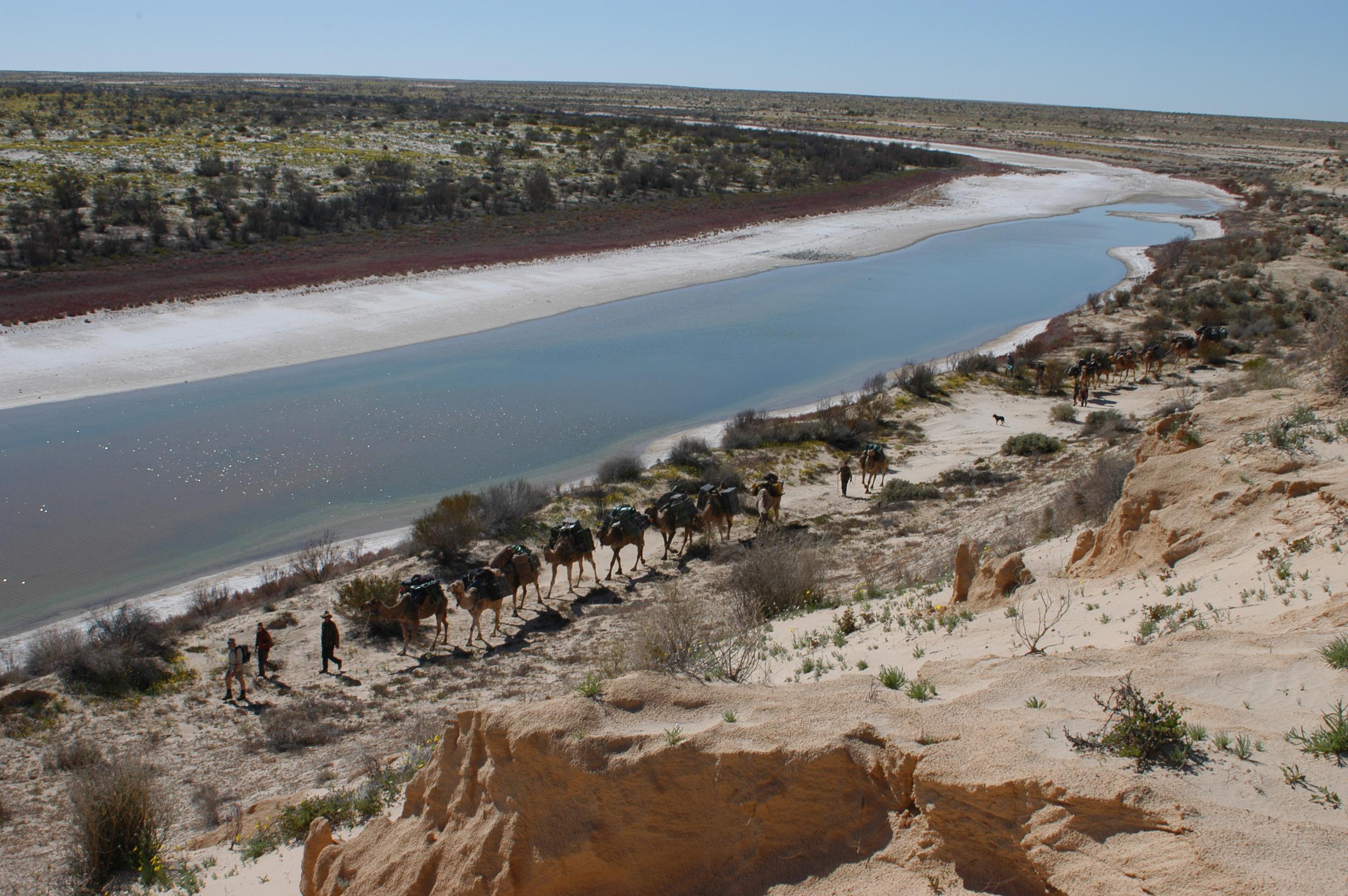 Along the Kallakoopah Creek, Arid Rivers Expedition.