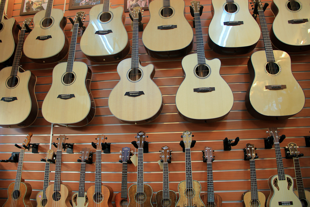 Acoustic guitar wall
