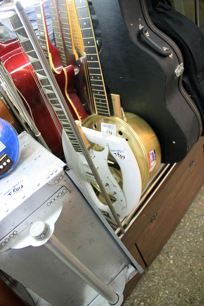 Toilet seat guitar