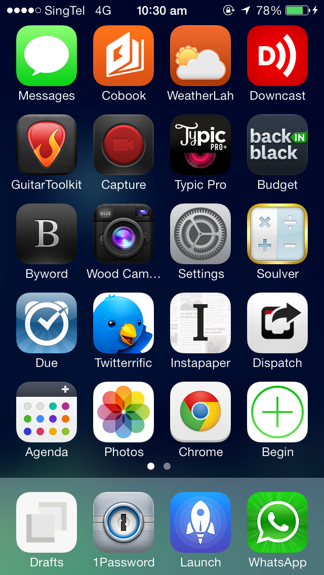 Homescreen - iOS7 Oct 2013