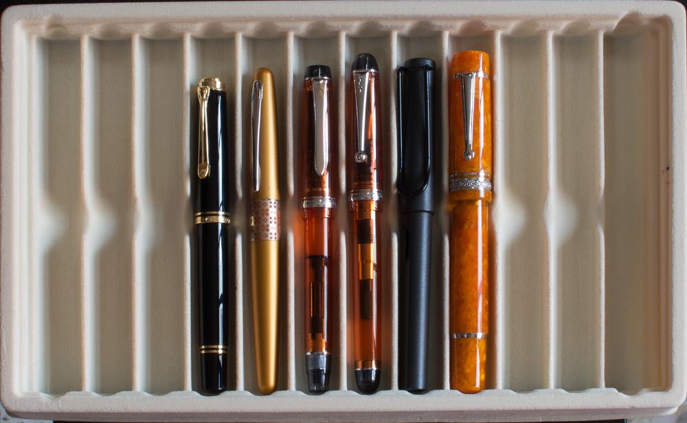 Pilot CUSTOM 823 Plunger 14K Fountain Pen Sheer Brown Gift Box Ink Set F nib