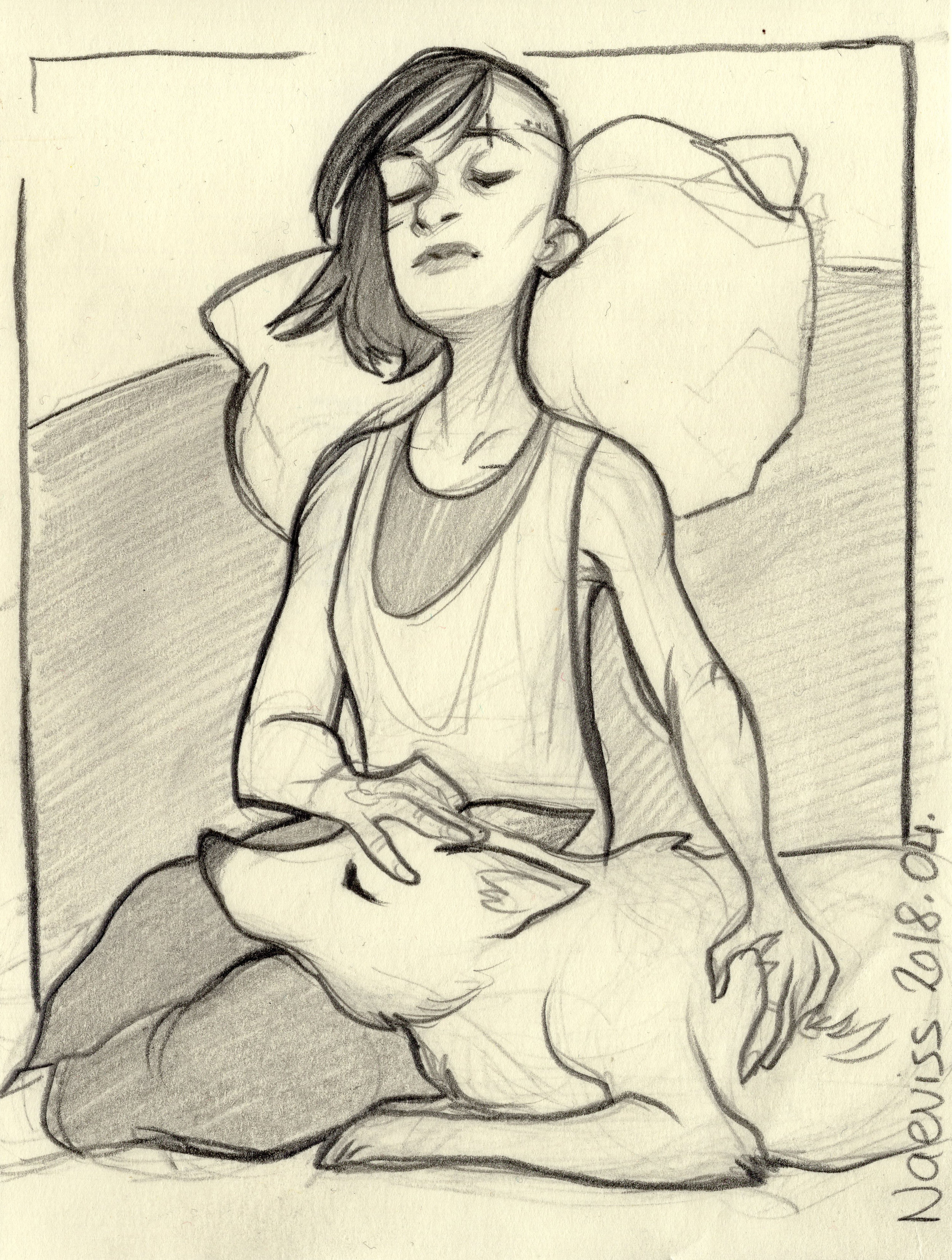 Sara and Kiba - Resting
