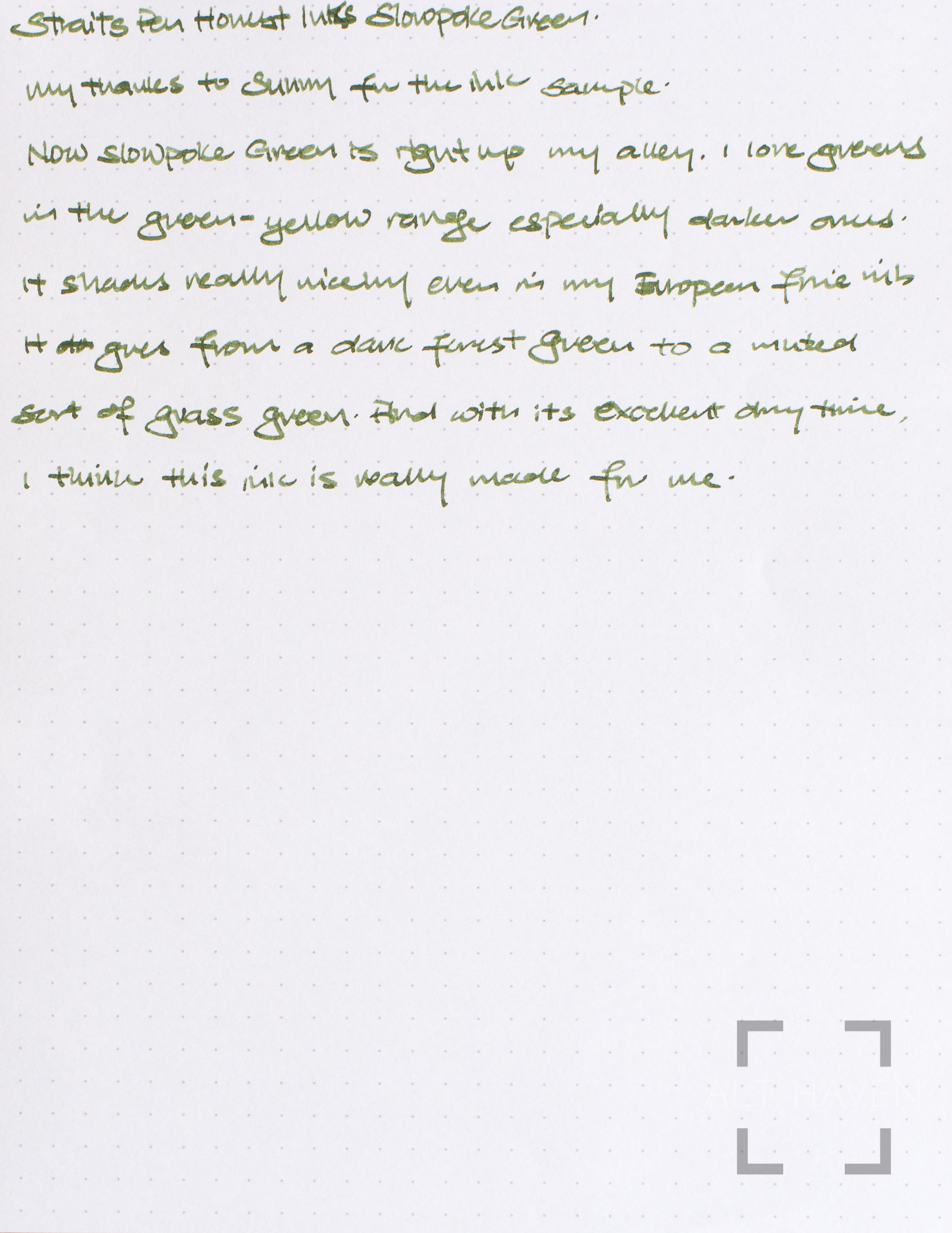 Straits Pen Honest Inks Slowpoke Green-2.jpg