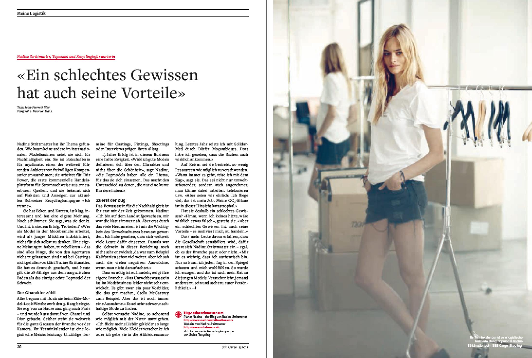 Das kleine Porträt über Nadine Stritmatter (PDF)