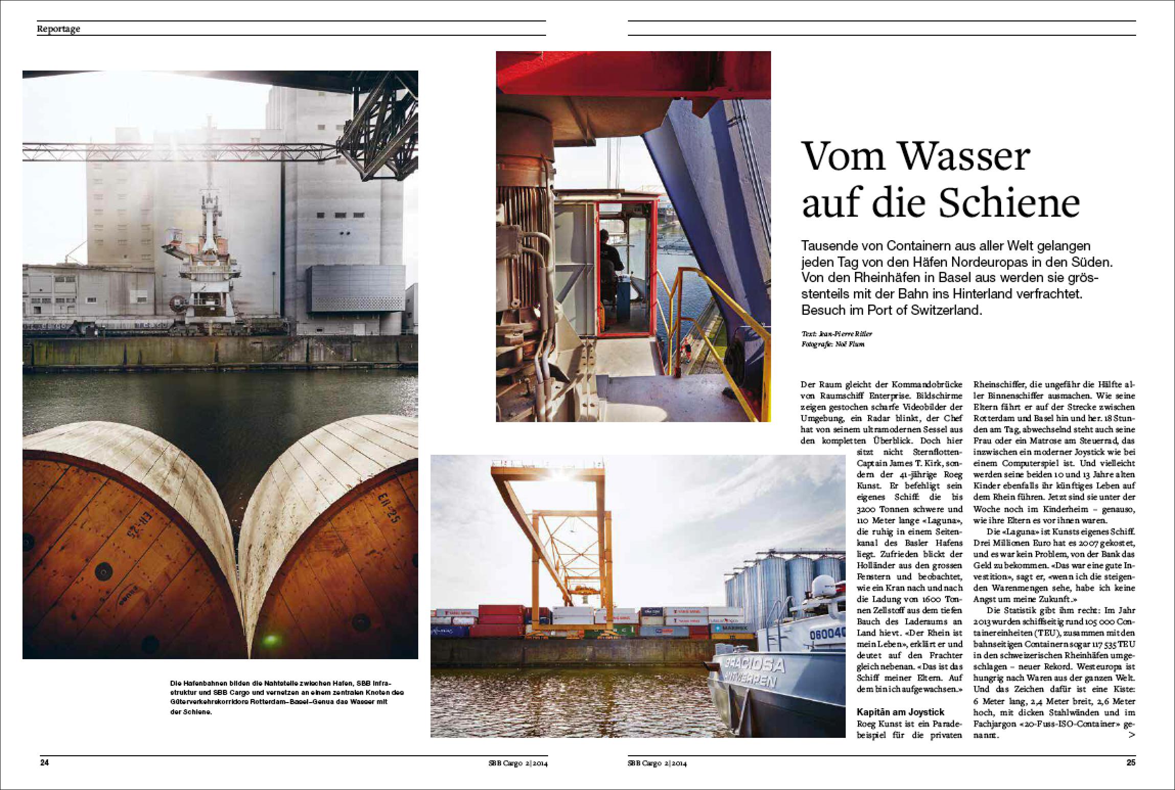 Der Artikel von Jean-Pierre Ritler im SBB Cargo Magazin 2/2014 (PDF)