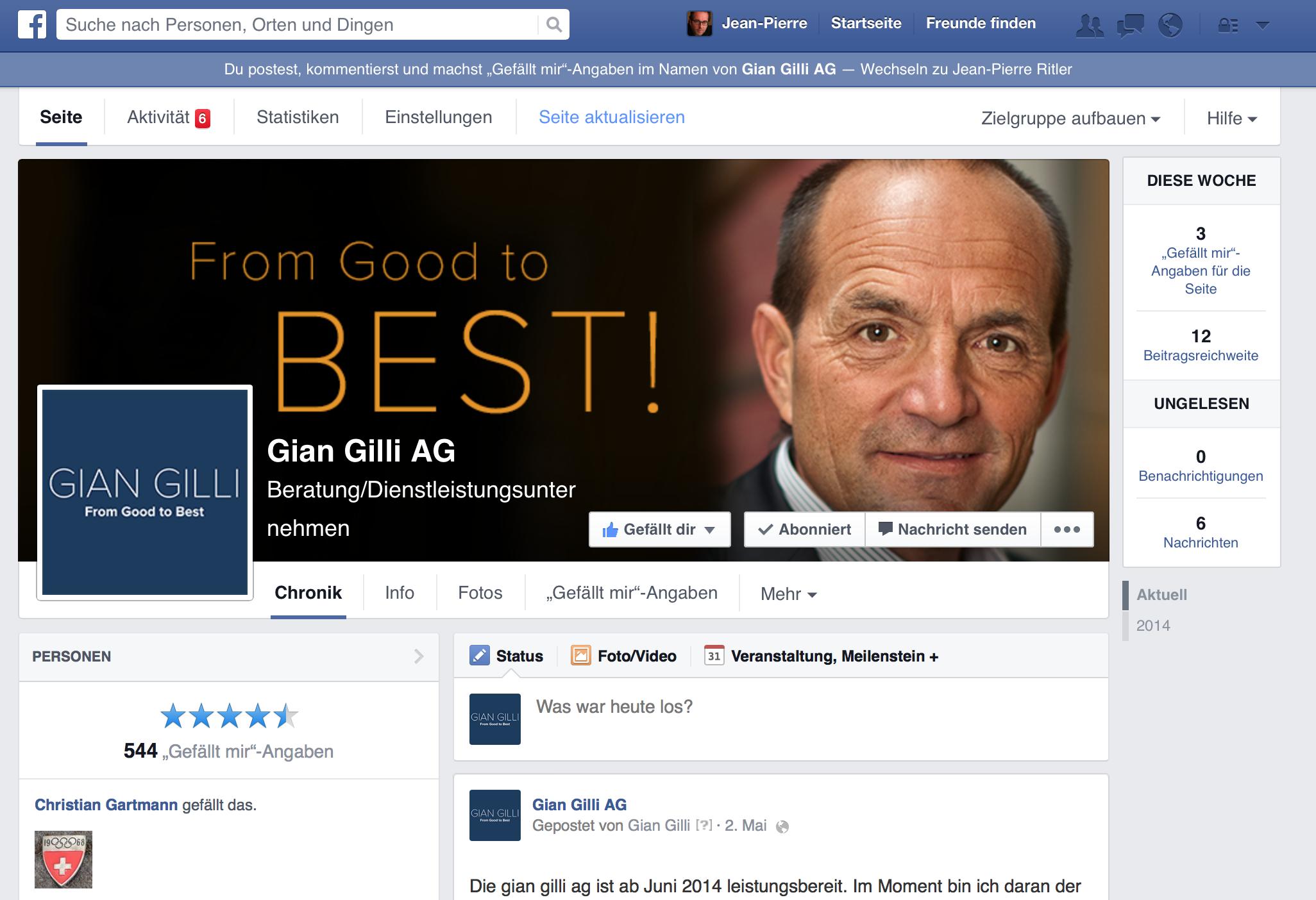 Die Facebook-Seite.