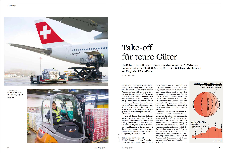 SBB Cargo Magazin 03/2014 Artikel von Jean-Pierre Ritler