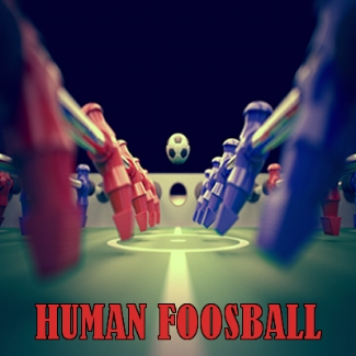 Ever wonder what those little guys in the foosball game feel like? Now is your time to find out! You and your friends will be able to battle it out in our Human Foosball Arena!