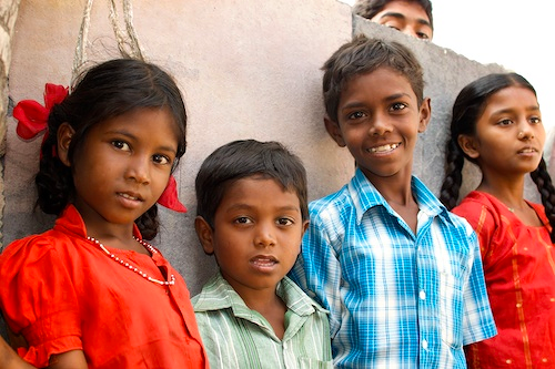 This was at a rural village in India during a health clinic. Who are these children and how do their lives connect with yours? What gives me the right to force that connexion?