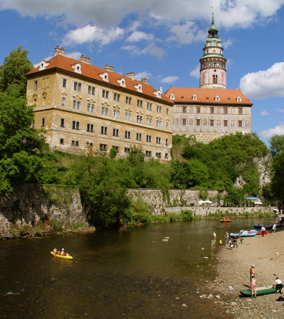 What Český Krumlov looked like the day before…when it was warm(er) and sunny.