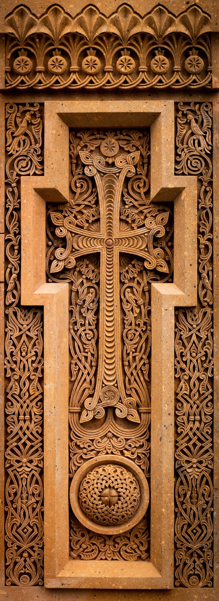 Traditional Armenian Cross in front of the church in Melbourne