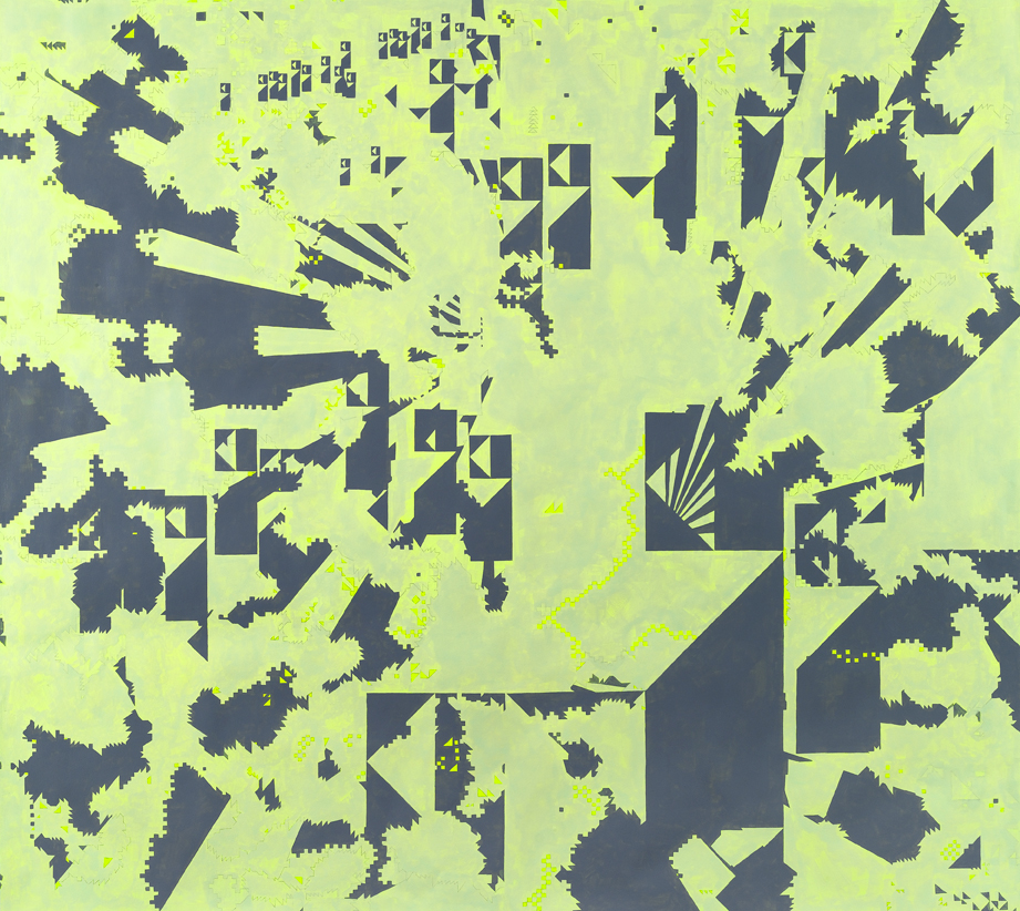 Olli Olli Oxen Free #2, 2009-2011 Acrylic and gouache on paper 53,5 x 59,4 inches (136 x 151 cm)  