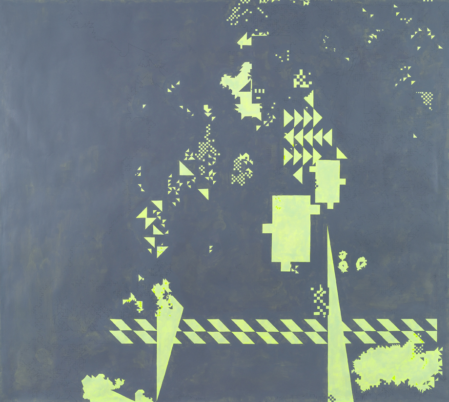 Hideaway #2, 2009-2011 Acrylic and gouache on paper 53,5 x 59,4 inches (136 x 151 cm)  