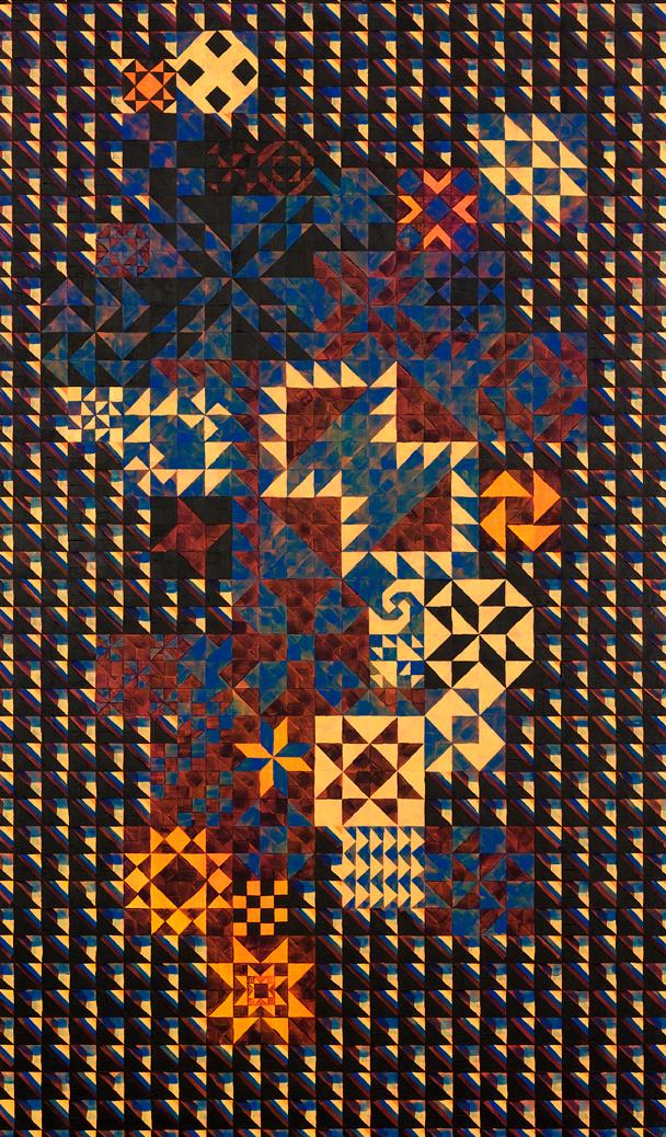At the Arcade #6, 2007 Acrylic & gouache on wood 32.7 x 19.3 inches (83 x 49 cm)   