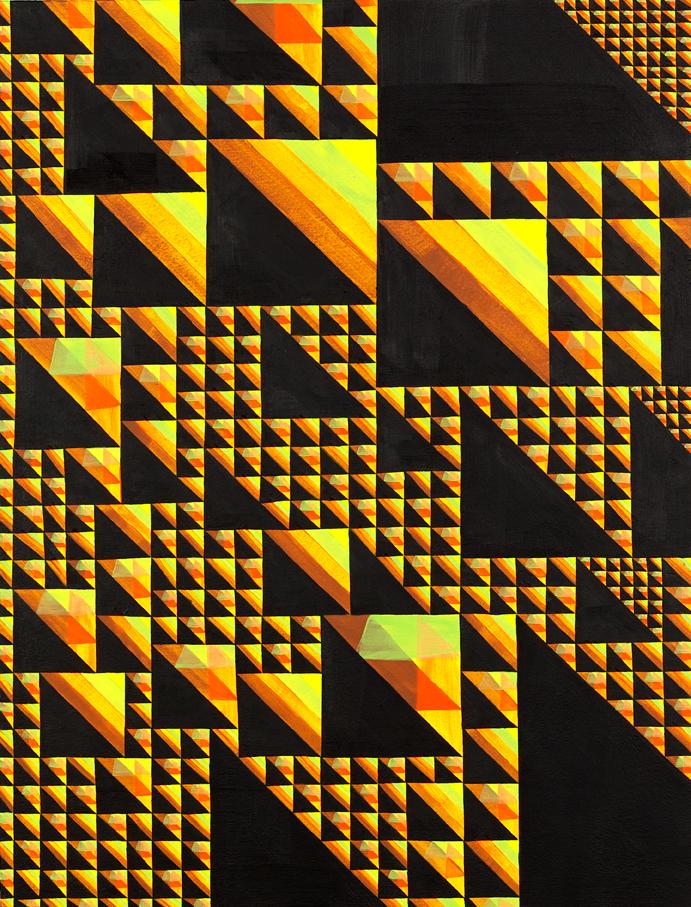 Echo Streak #2, 2008 Acrylic on wood 19 x 14.5 inches (48.5 x 37 cm)   
