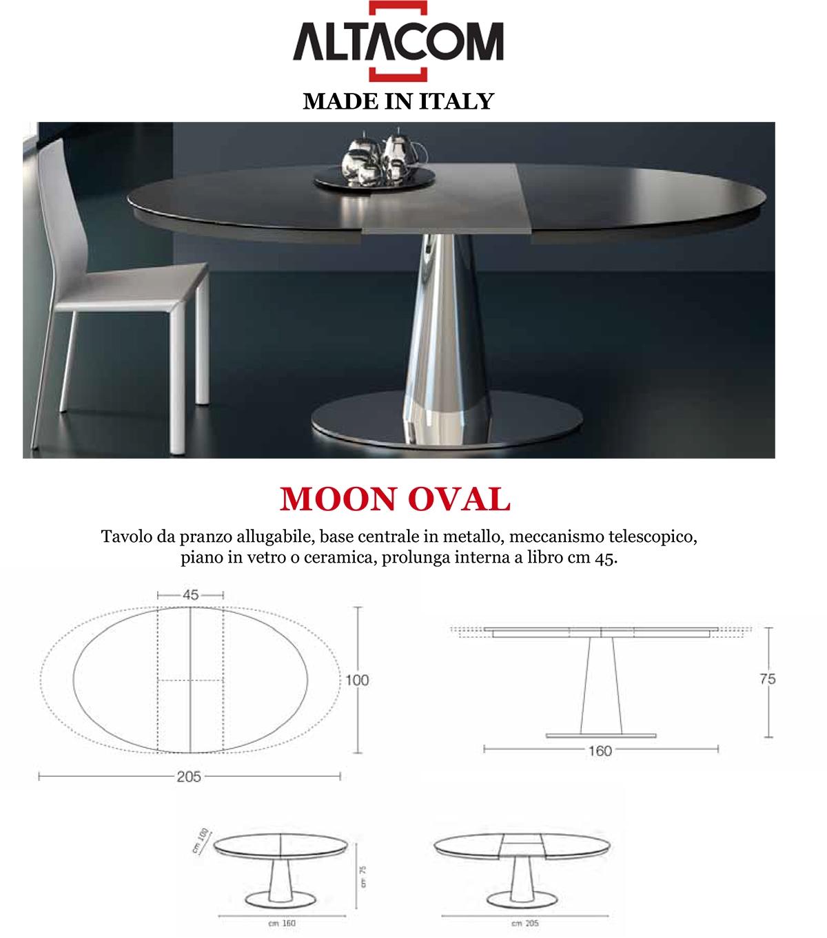 Tavolo Moon Oval di ALTACOM