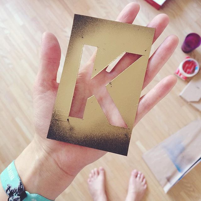 K for #klay #merch #handmade #crafting #gold #paint #fun 📓🖌🎨 http://klay.at/store/