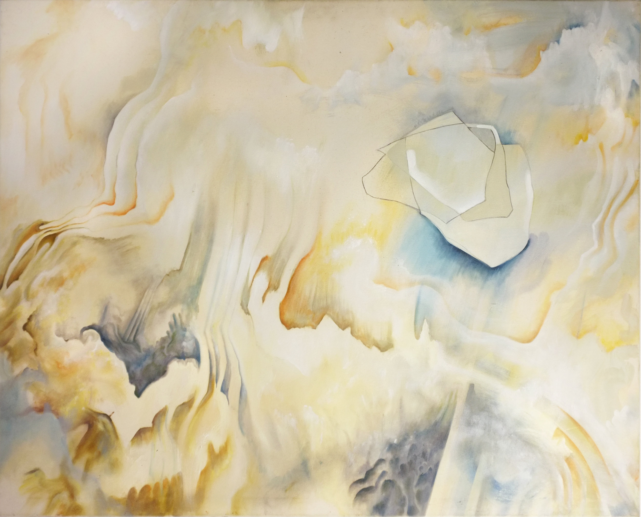 "the soundless place I, 40x50"" - oil and graphite on canvas"