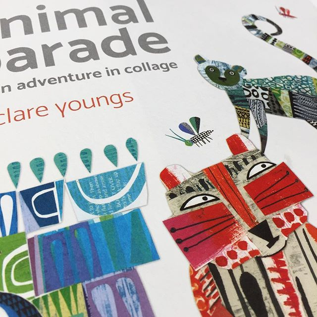 Proofs arrived! Animal Parade Exciting to see the proofs of Clare Youngs adventure in collage arrive yesterday. All set to to bound in quarter cloth next week. There'll be a Special numbered edition too, complete with a signed and numbered giclee print on quality Somerset paper and you can pre-order now via link in my profile. #animalparade #proofcopy @clareyoungs #collage #handprintedpaper #artistsbook #thecraftofprint #craftbook