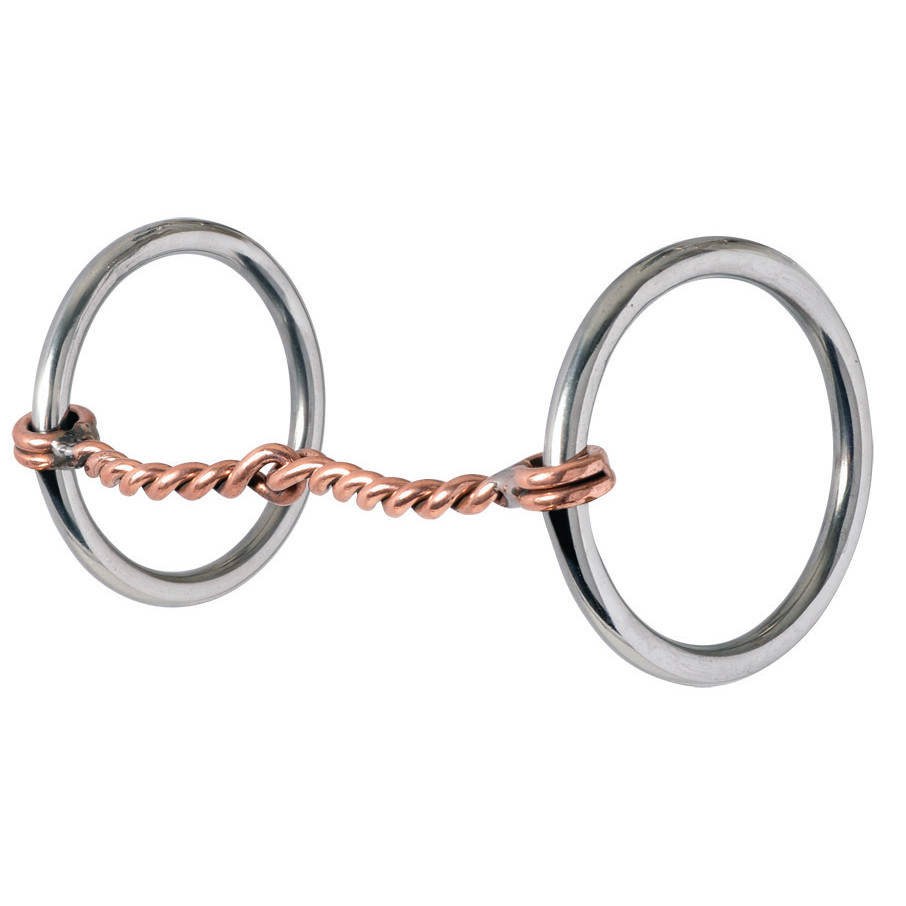 Stage A - Are you Riding with Both Hands?Stage A bits are great for starting horses, training, or maintaining steady contact. Aspects include direct reining, non-leverage Loose Rings and Dee Rings with mouthpiece diameters 5/16