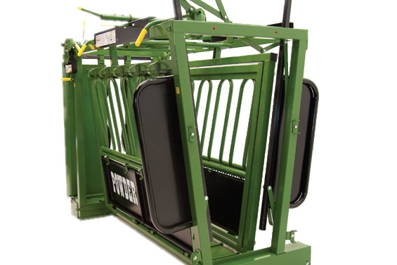 Split tailgate - A Split Tailgate allows the operator to work from either side of the chute with minimal interference and can be closed from the normal operator position or near the back of the chute. The split tailgate is standard on all chutes except the value series. The value series features a durable drop gate with spring latches.