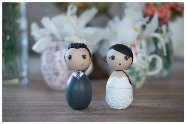 Custom Kokeshi Wedding Toppers