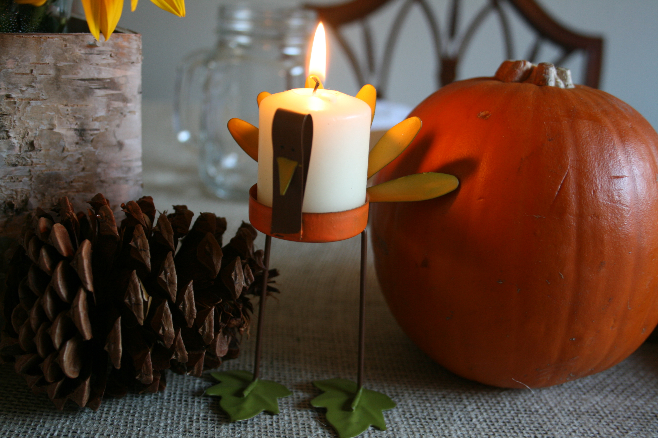 The turkey candleholders I couldn't live without.