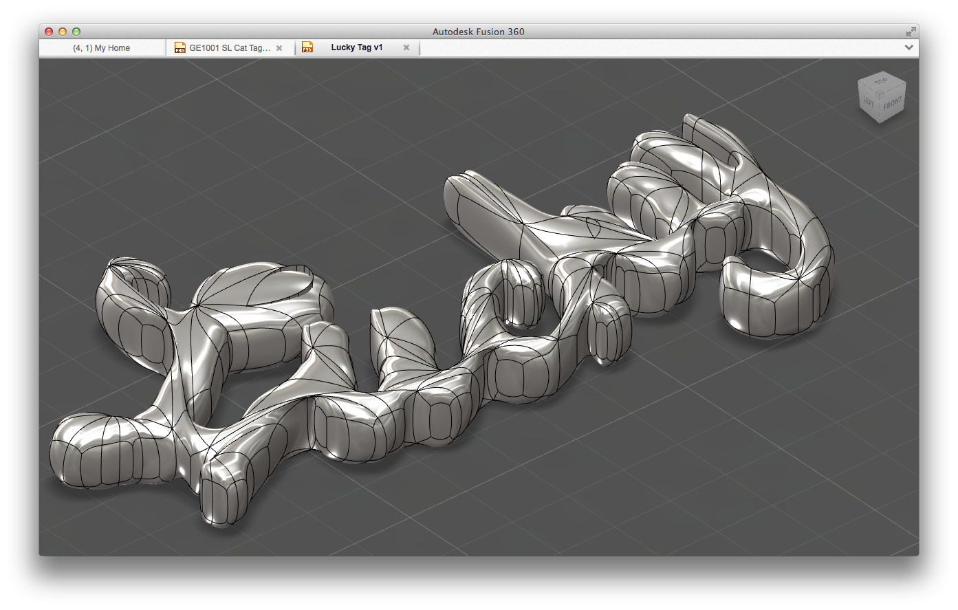 "This T-spline model was extruded and then ""patched""... Results were mixed."