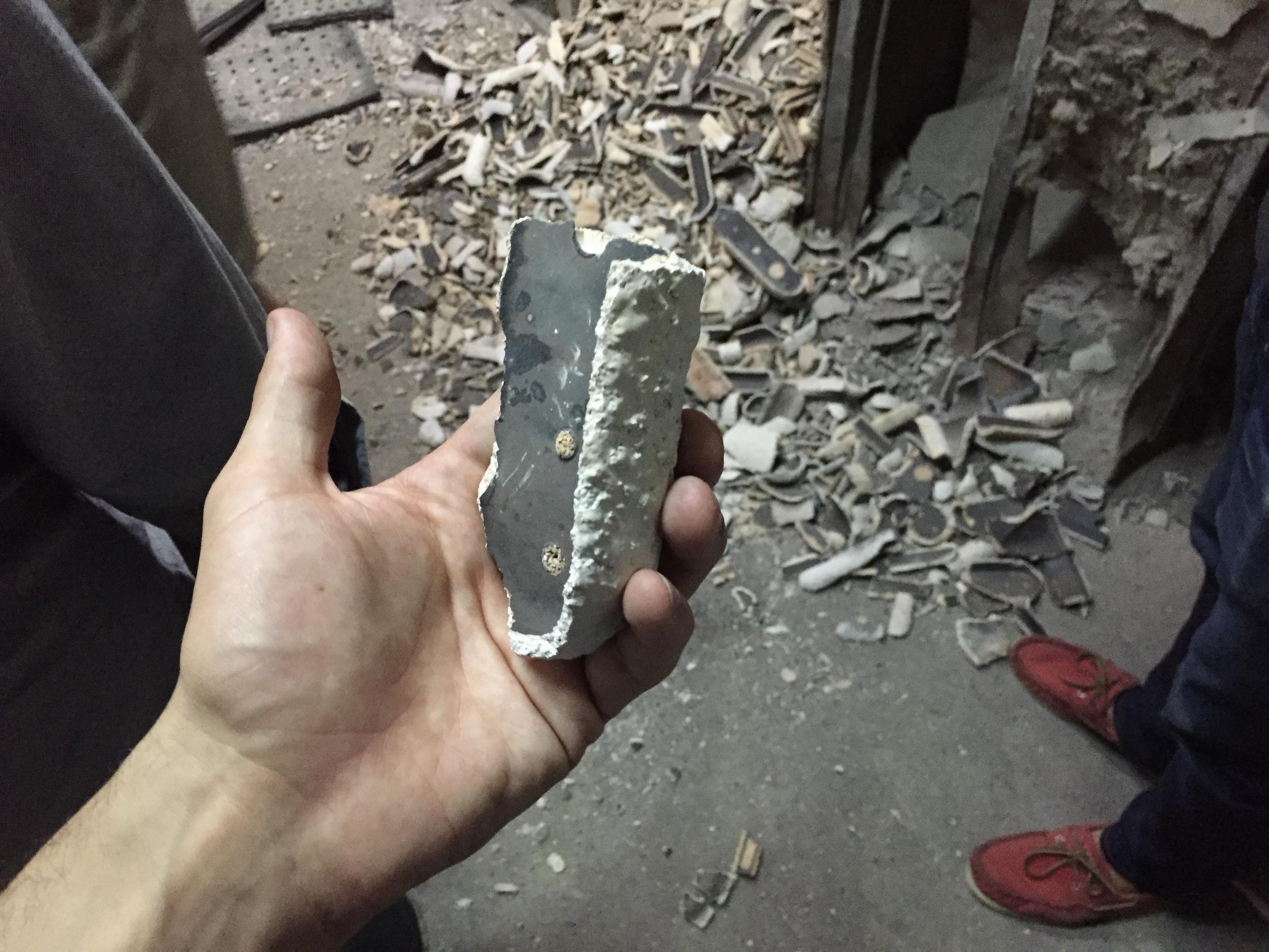 Clay shells.