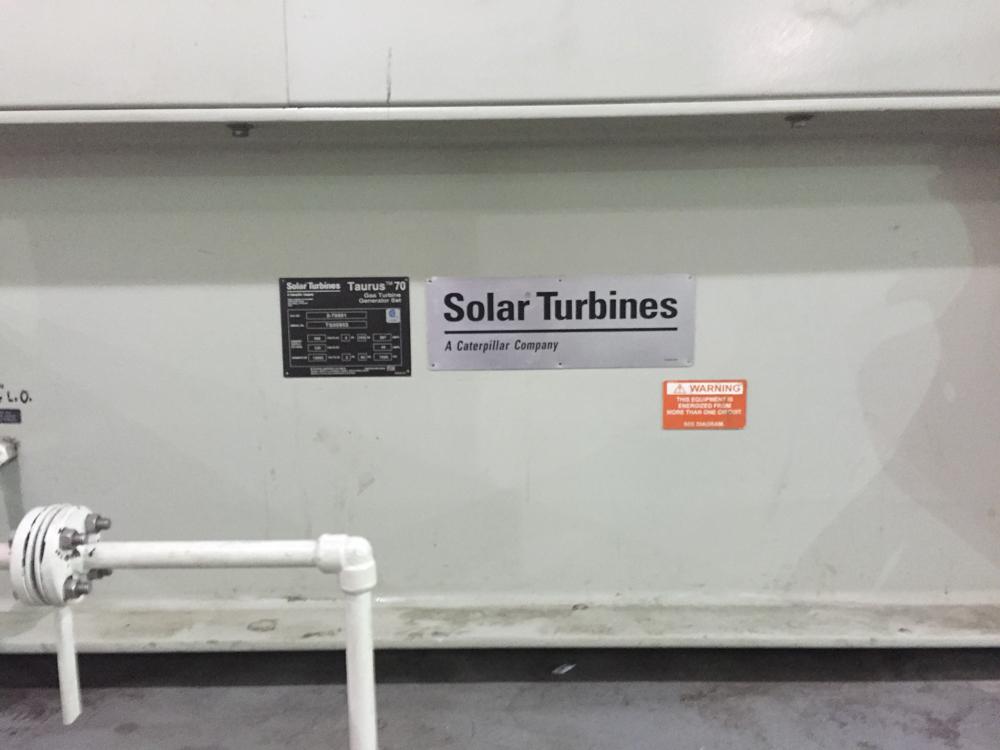 A bunch of big diesel turbines, in case grid power fails.