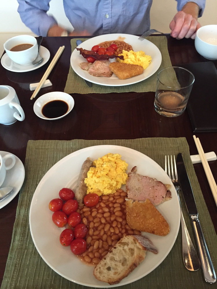 Full breakfast, Hong Kong