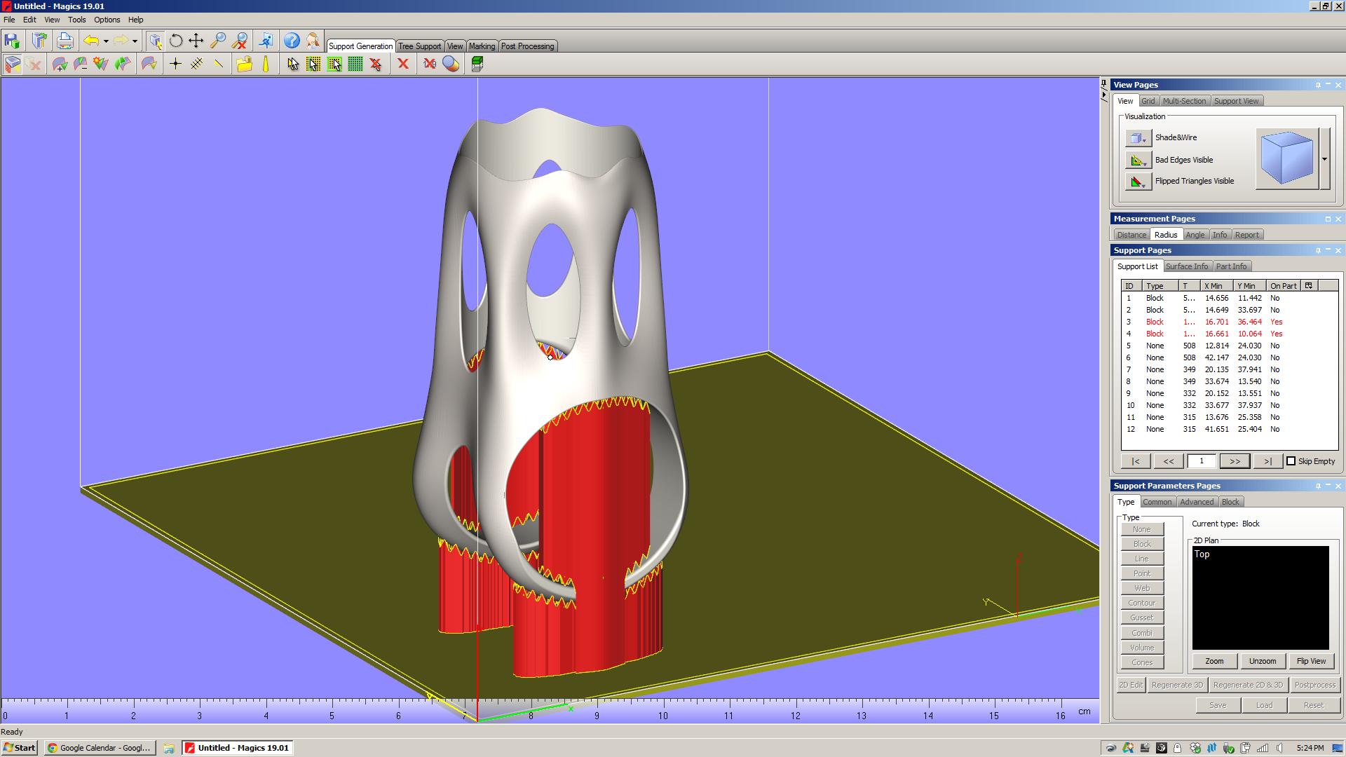 Concept Laser MLab default supports