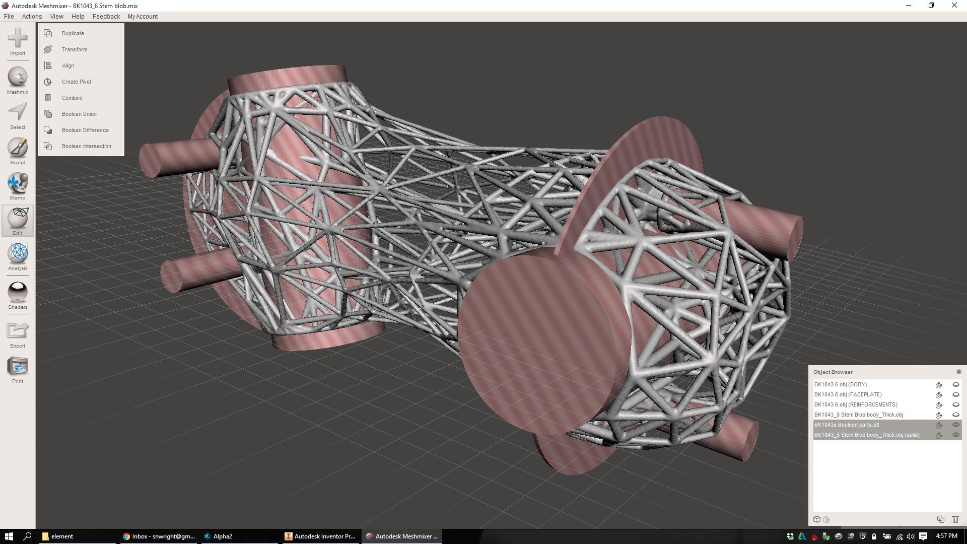 Lattice design workflow, part 3: Integrating full mechanical
