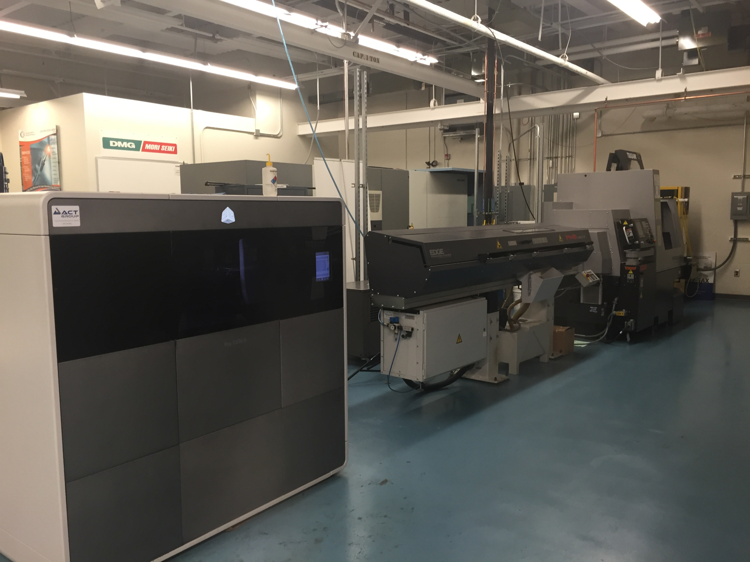 3D Systems ProJet + Swiss turning center