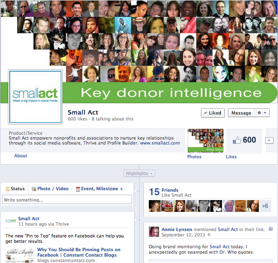 Small Act Facebook Timeline