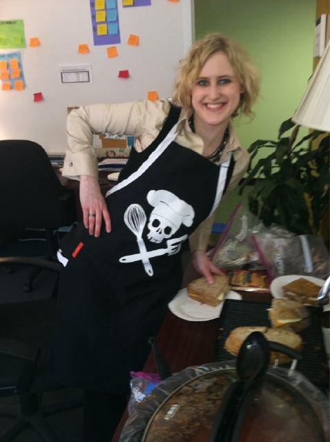 Annie in apron