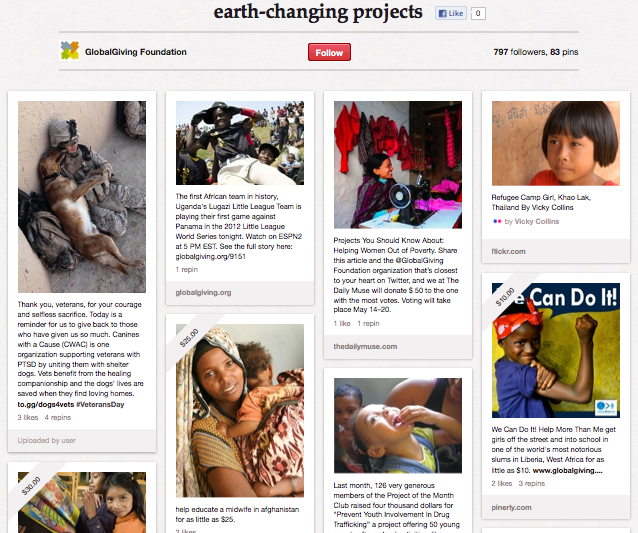 GlobalGiving on Pinterest