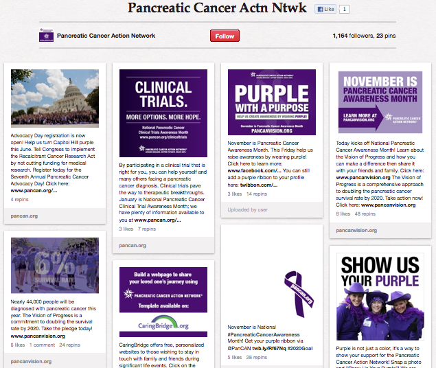 Pancreatic Cancer Action Network on Pinterest