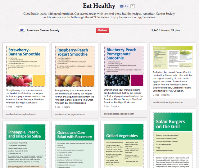 American Cancer Society on Pinterest