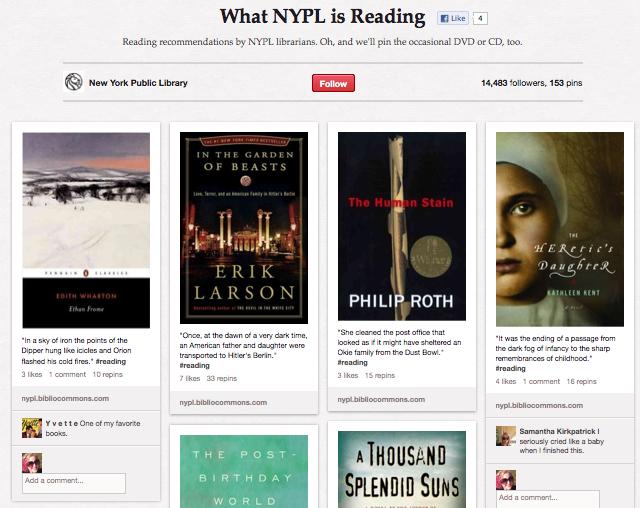 New York Public Library on Pinterest