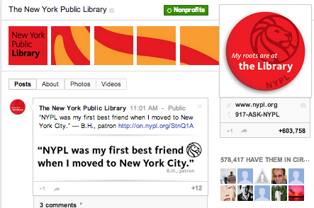 New York Public Library on Google+