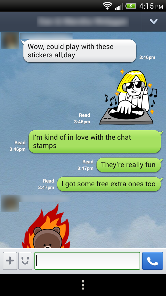 Here's one of my chats from testing out the app.