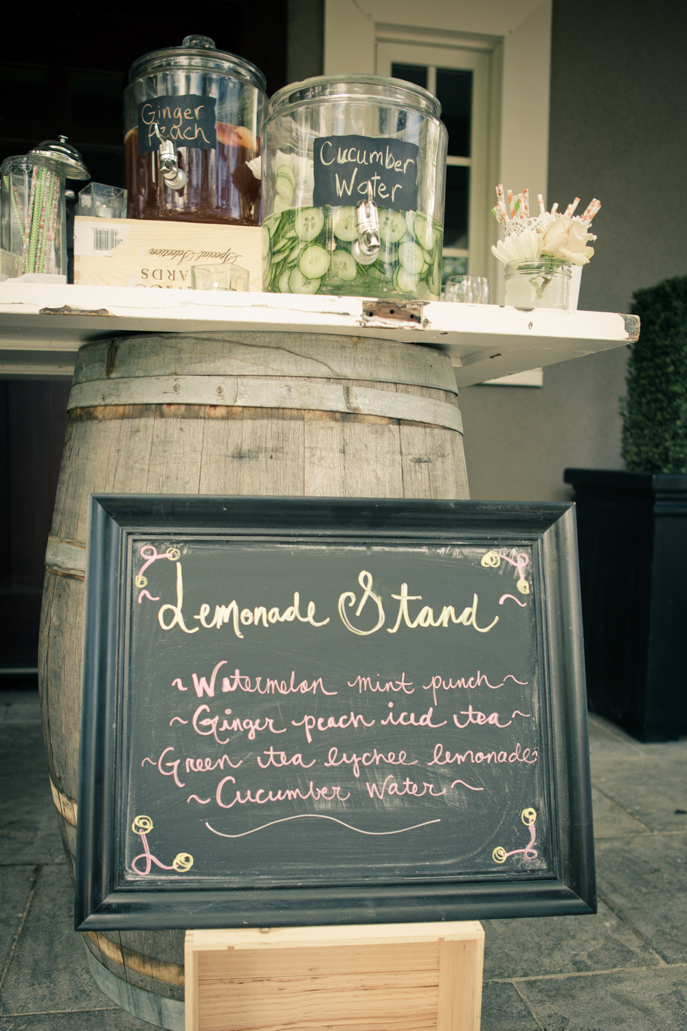 A fantastic way to quench everyone's thirst. Photo by  The  Wedding Artists Collective