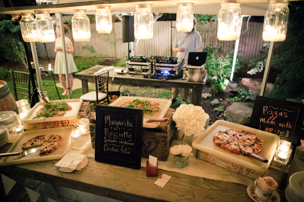Keep the party and the dancing going all night with some delicious treats. Photo by  The Weddings Artists Collective .