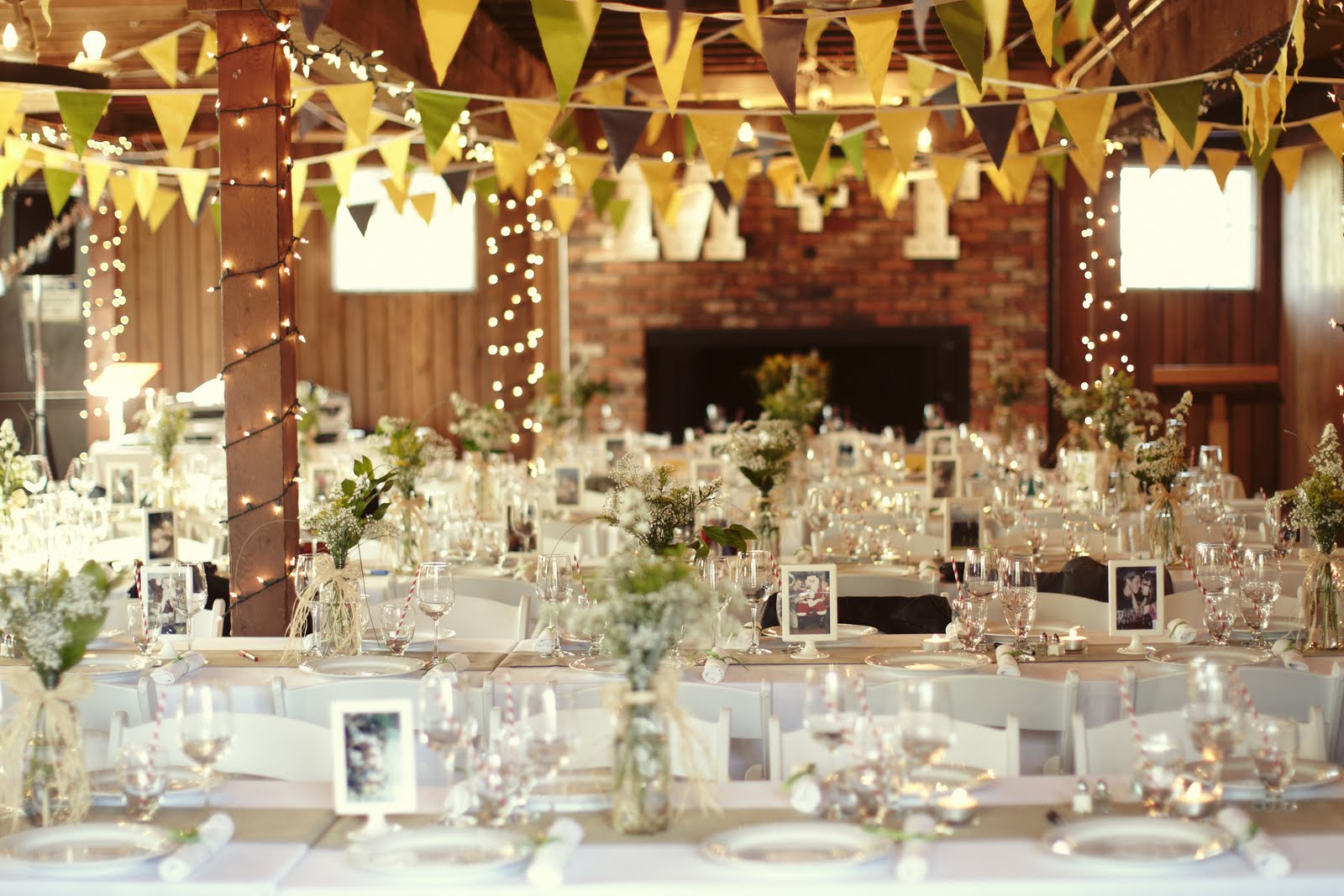The Shawnessy Barn is a perfect venue to express your personality. Custom details like these handmade pennants are fantastic!