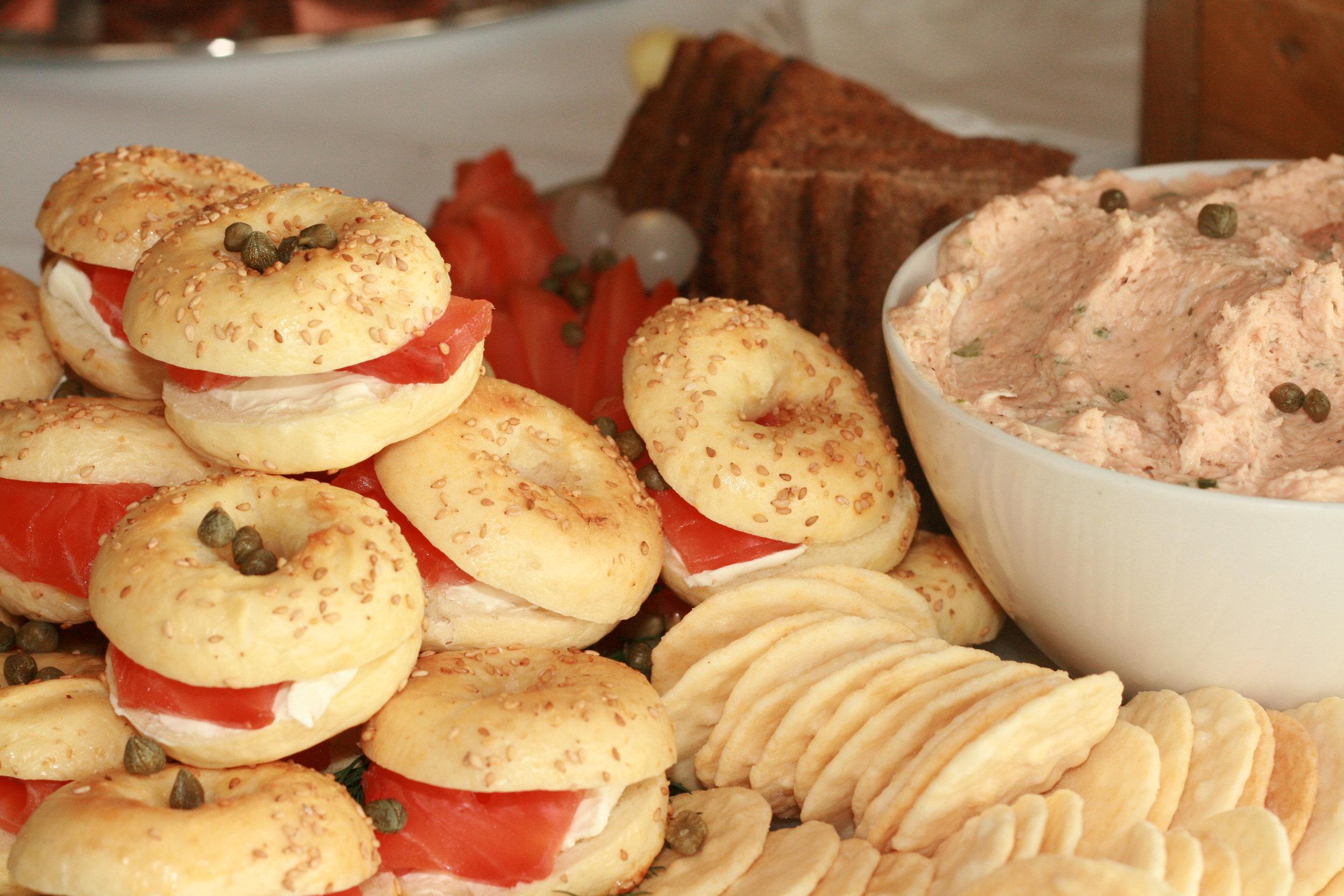 Mini bagels and cured salmon.jpg