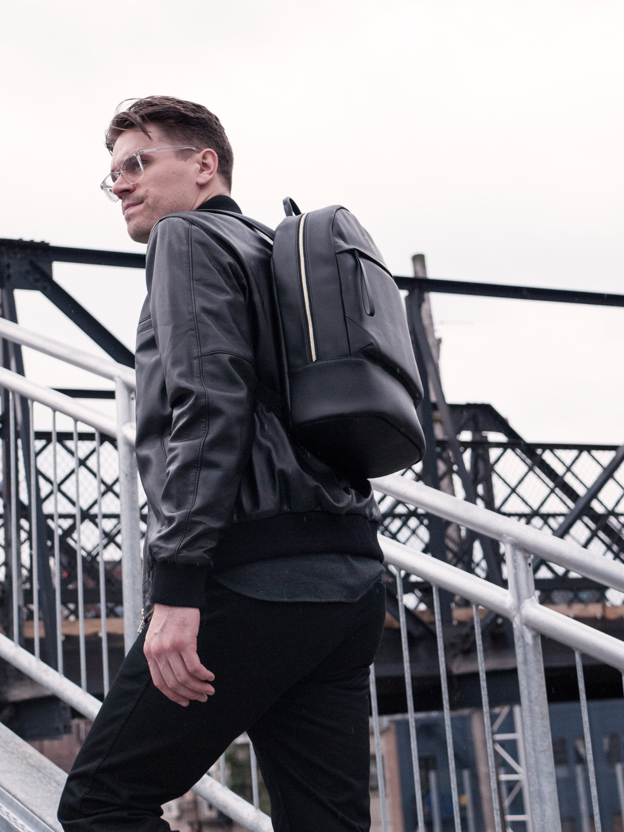 013    Outclass  Leather Jacket , Shirt & Cargos    Wings + Horns Sneakers    Want Les Essentiels  Bag