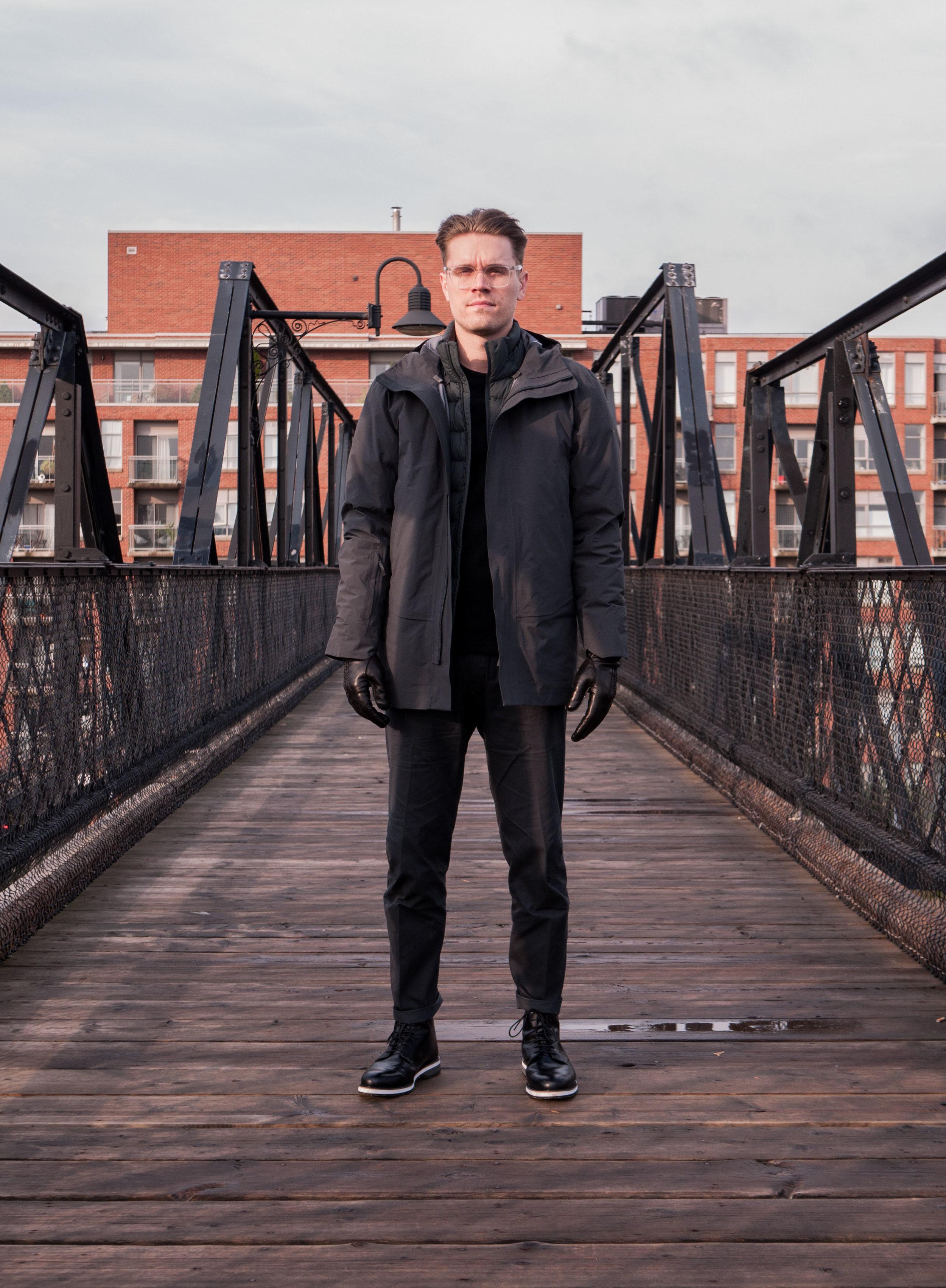 007    Arc'teryx Veilance Jacket, Sweater & Pants     WANT Les Essentiels  Boots     Hestra  Gloves